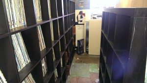 New shelves in the record library